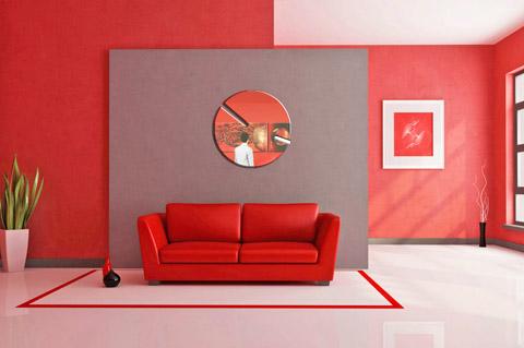 Sara Ferrari - Tiu - Orologio in vetro da parete